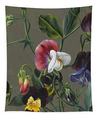 Sweet Peas And Violas Tapestry