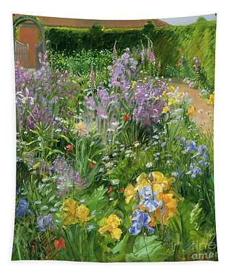 Sweet Rocket - Foxgloves And Irises Tapestry