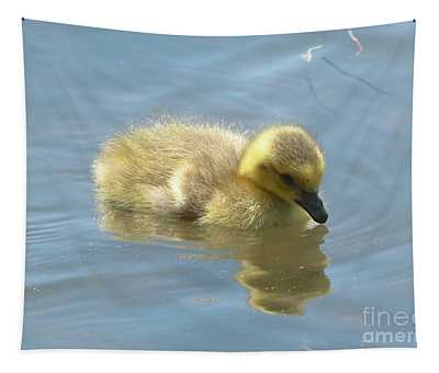 Sweet Swimming Gosling Tapestry
