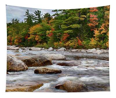 Swift River Runs Through Fall Colors Tapestry