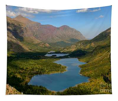 Swiftcurrent Lakes Of Many Glacier Tapestry