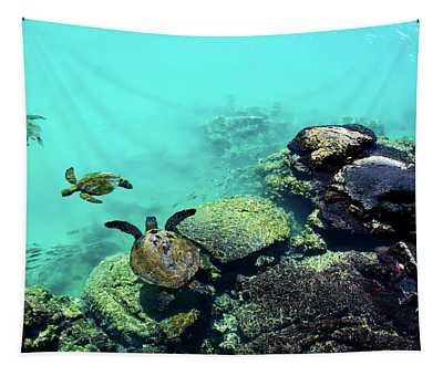 Swimming Honu Tapestry