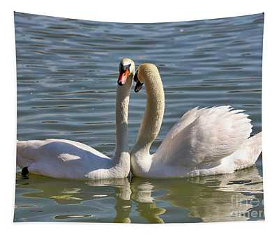 Swooning Swans Tapestry