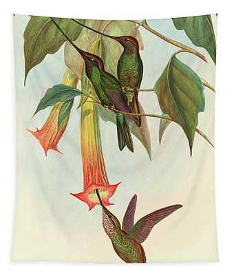 Sword Billed Hummingbird Tapestry