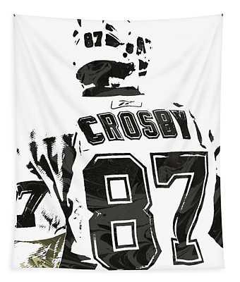 Sydney Crosby Pittsburgh Penguins Pixel Art 2 Tapestry