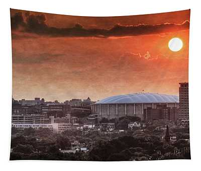 Syracuse Sunrise Over The Dome Tapestry