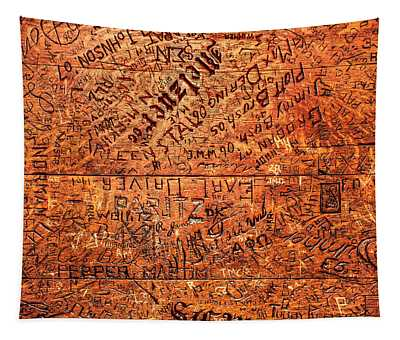 Table Graffiti Tapestry