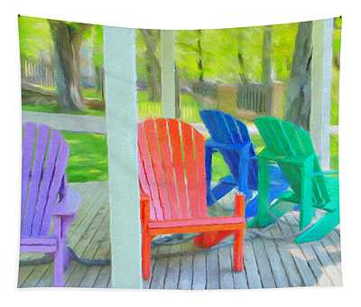 Take A Seat But Don't Take A Chair Tapestry