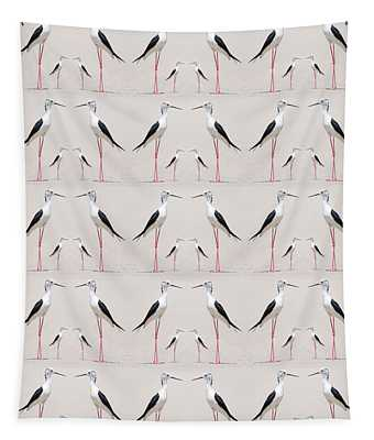 Tall Birds Pattern Tapestry