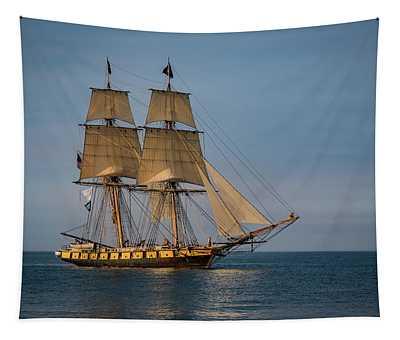 Tall Ship U.s. Brig Niagara Tapestry