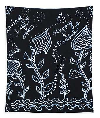 Tangle Flowers Tapestry