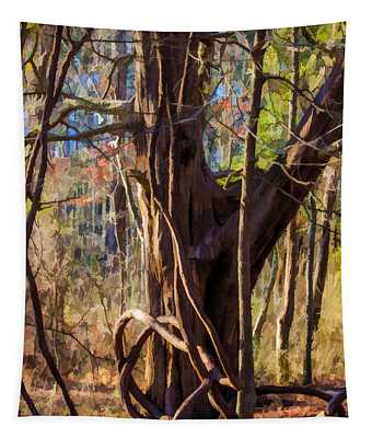 Tangled Vines On Tree Tapestry