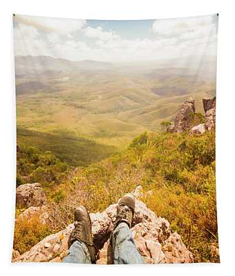 Tasmania Bushwalking Views Tapestry