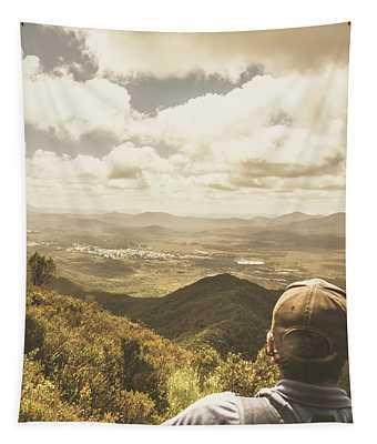 Tasmanian Hiking View Tapestry
