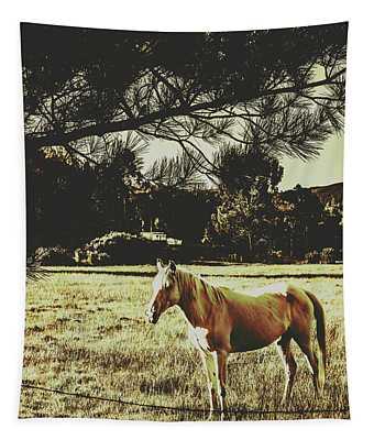 Tasmanian Rural Farm Horse Tapestry