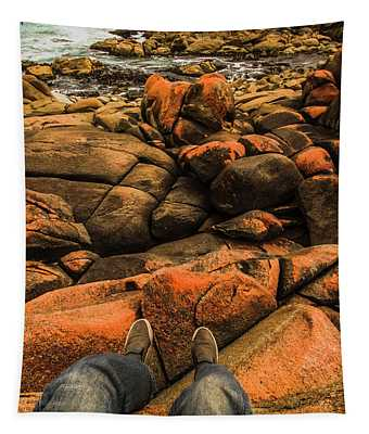 Tasmanian Tourist Kicking Back  Tapestry