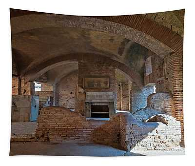 Tavern At Ostia Antica Italy Tapestry