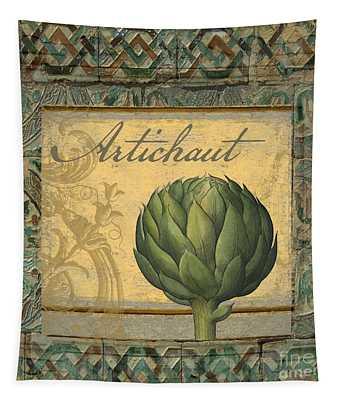 Tavolo, Italian Table, Artichoke Tapestry
