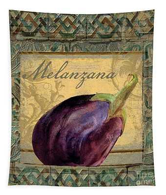 Tavolo, Italian Table, Eggplant Tapestry