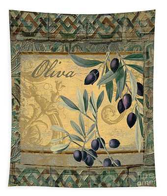 Tavolo, Italian Table, Olives Tapestry