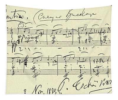 Tchaikovsky Autographed Score Tapestry