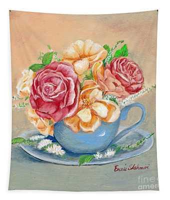 Tea Roses Tapestry