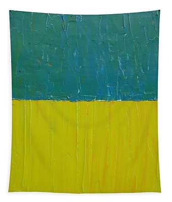 Teal Olive Tapestry