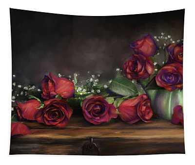 Teapot Roses Tapestry