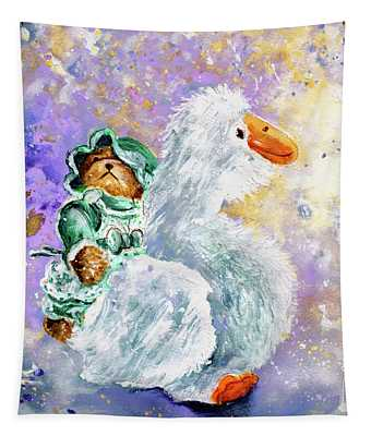 Teddy Gwendoline And Her White Goose Tapestry