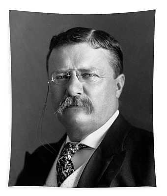 Teddy Roosevelt Portrait - 1904 Tapestry