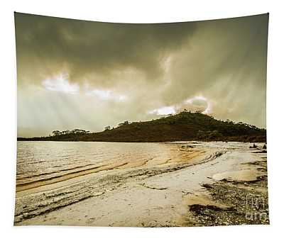 Teds Beach At Dusk Tapestry