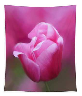 Tell Your Heart To Beat Again - Flower Art Tapestry