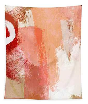 Terracotta Abstract- Art By Linda Woods Tapestry
