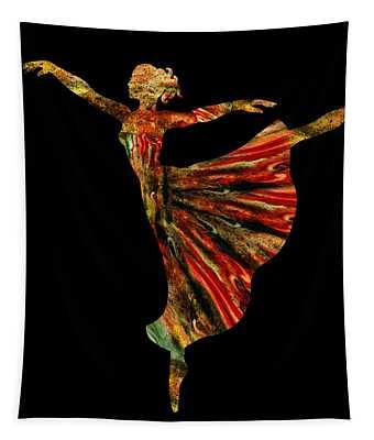 Terrestrial Night Ballerina Silhouette  Tapestry