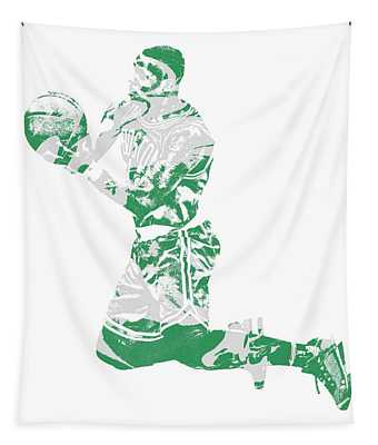 Terry Rozier Boston Celtics Pixel Art 12 Tapestry