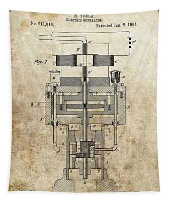 Tesla Generator Patent Tapestry