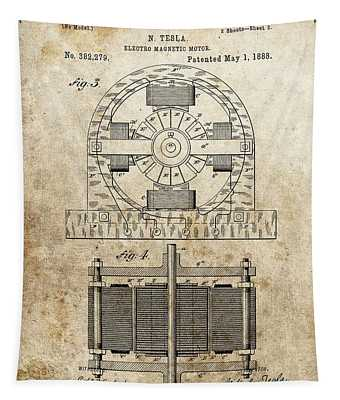 Tesla Magnetic Motor Patent Tapestry