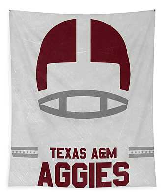 Texas A M Aggies Vintage Football Art Tapestry