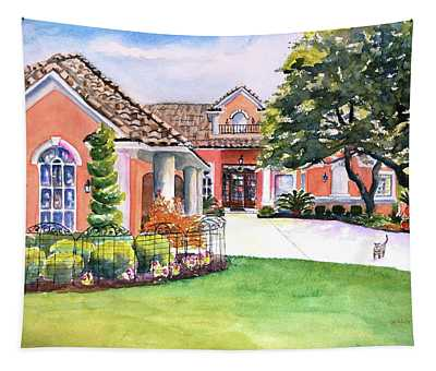 Texas Home Spanish Tuscan Architecture  Tapestry