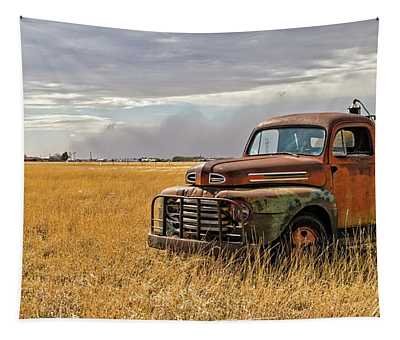 Texas Truck Ws Tapestry by Peter Tellone