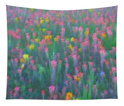 Texas Wildflowers Abstract Tapestry