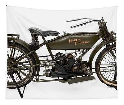 The 1919 Harley Davidson Twin Sport Model  Tapestry