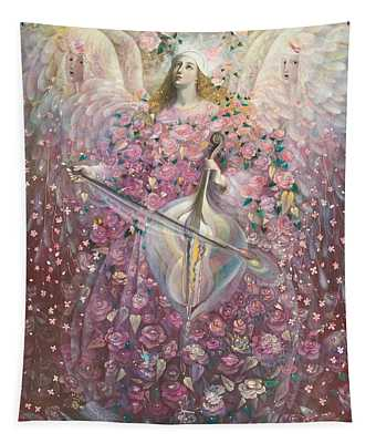 The Angel Of Love Tapestry