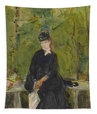 The Artist's Sister Edma Seated In A Park Tapestry