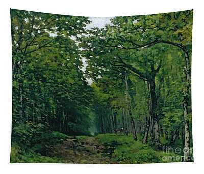 The Avenue Of Chestnut Trees Tapestry