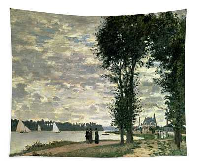 The Banks Of The Seine At Argenteuil Tapestry