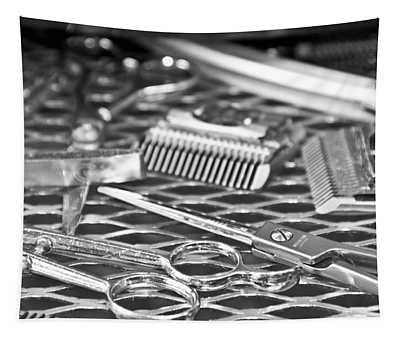 The Barber Shop 10 Bw Tapestry