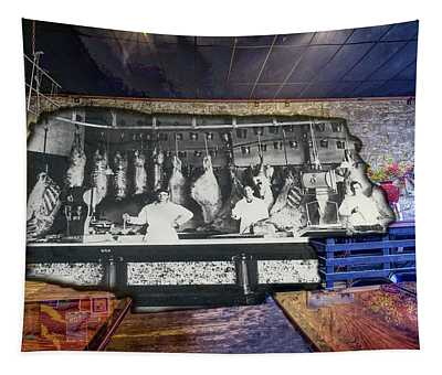 Tapestry featuring the photograph The Barudoni Building by Jim Thompson