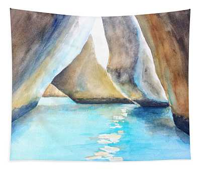 The Baths Water Cave Path Tapestry