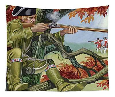 Battle Of Saratoga, With Brigadier Arnold's Sharp-shooters, Picking Off The Britisr Tapestry